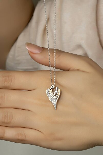 Else Silver 925 Ayar Gümüş Melek Annem Kolye