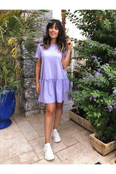 Bella Kadın Lila Penye Elbise