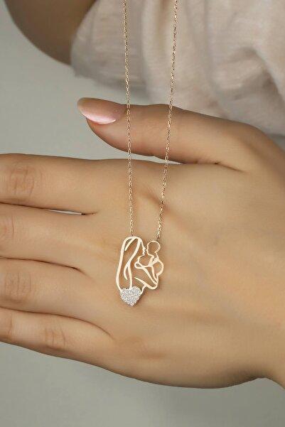 Else Silver Ana Kucağı Gümüş Kalpli Kolye
