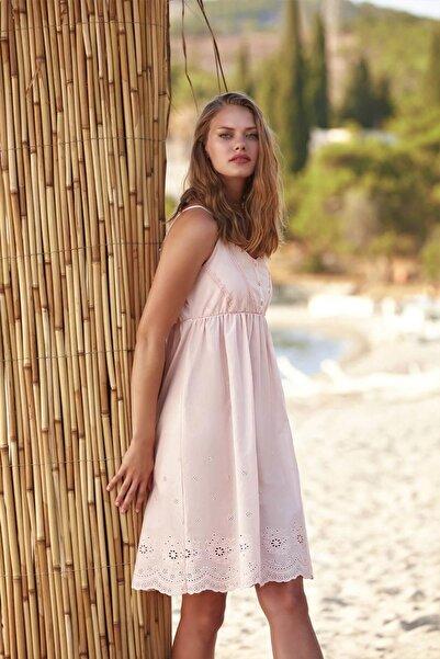Penyemood Penye Mood 8763 Kadın Pembe Elbise