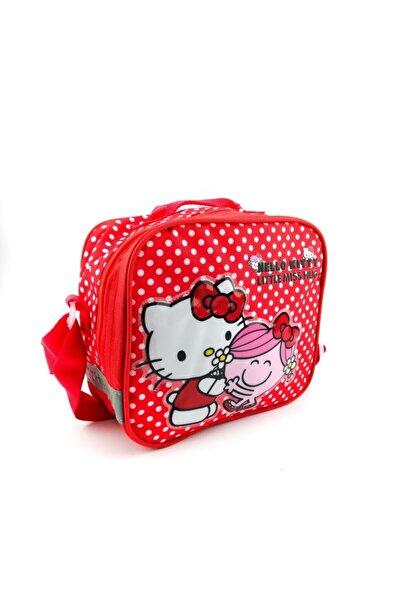 Hakan Çanta Kız Çocuk Kırmızı Lisanslı Hello Kitty Karakterli Beslenme Çantası