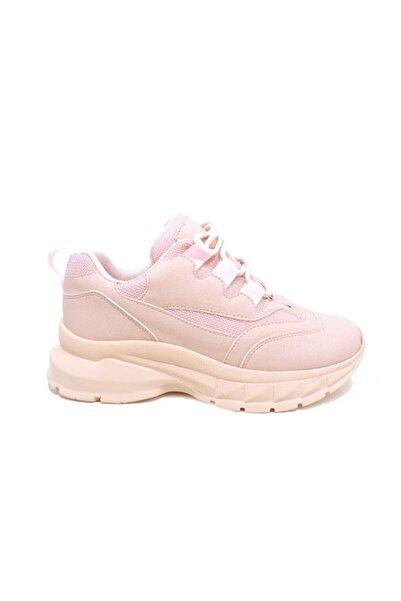 Akınal Bella Kadın   Pembe Yüksek Taban Sneaker