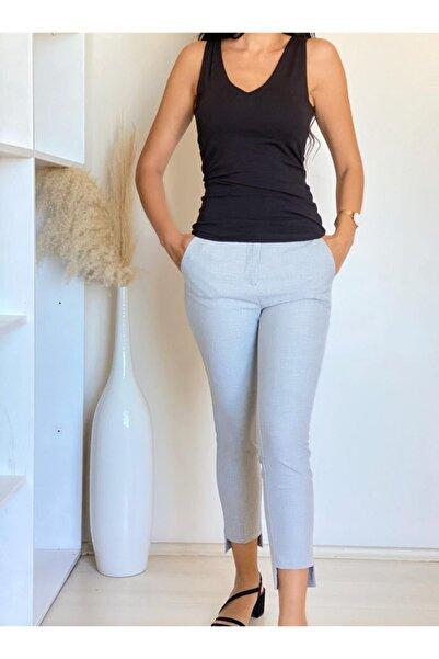 ElModa Boutique Gri / Köprülü Pantolon -karol