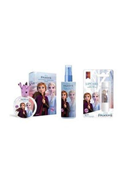 Frozen Elsa 50ml Parfüm Edt + Body Mist + Lip Stick
