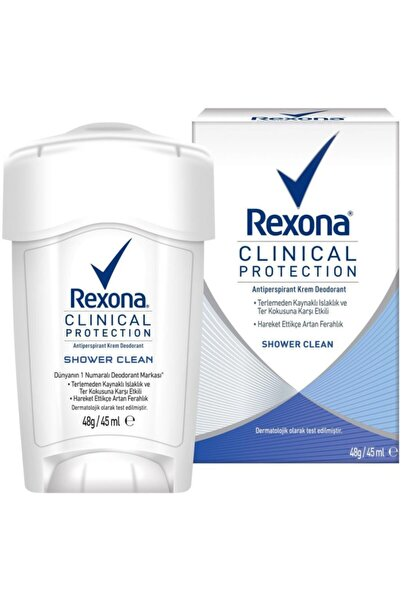 Rexona Clinical Protection Shower Clean Krem Deodorant 45 ml