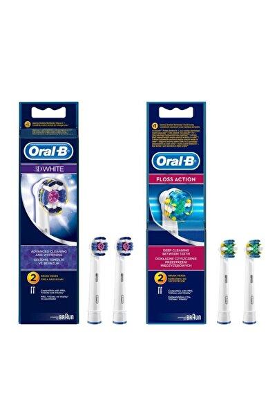 Oral-B Diş Fırçası Yedek Başlığı 3d White 2'li+floss Action 2'li