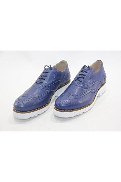İnci Kadın Koyu Mavi Hakiki Deri Klasik Ayakkabı