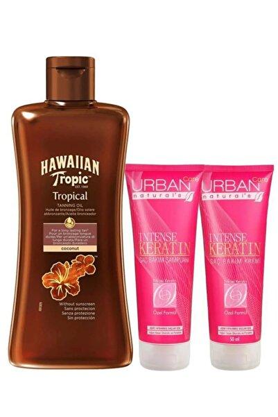 Hawaiian Tropic Intense Keratin Şampuan Ve Saç Kremi, Hawaiin Tropic Tropical Tanning Oil Bronzlaştırıcı Yağ Seti