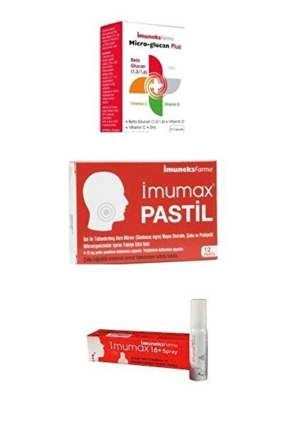 Imuneks Bağışıklık Güçlendirici Set Micro-glucan + Pastil + Sprey