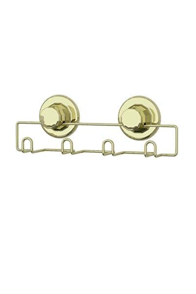 Teknotel Altın Vakumlu Banyo Mutfak Vestiyer Askısı 4'lü Dm244