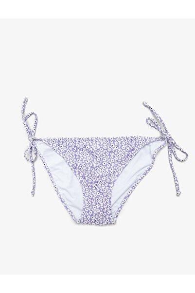 Koton Kadın Mor Floral Desenli Bikini Altı