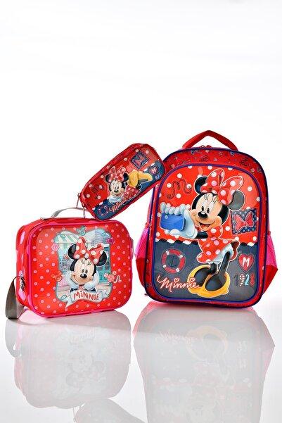 Minnie Mouse 73170 Okul Sırt Çantası 3'lü Set