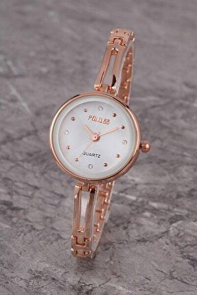 Plkm008r02 Kadın Saat Taş Detaylı Kadran Şık Metal Kordon