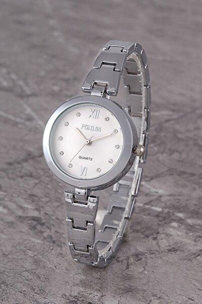 Polo55 Plkm011r01 Kadın Saat Taş Detaylı Kadran Şık Metal Kordon