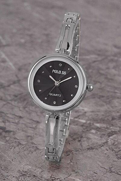Polo55 Plkm008r01 Kadın Saat Taş Detaylı Kadran Şık Metal Kordon
