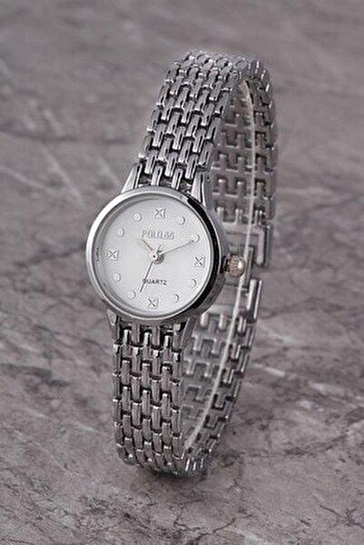 Plkm012r01 Kadın Saat Taş Detaylı Kadran Şık Metal Kordon