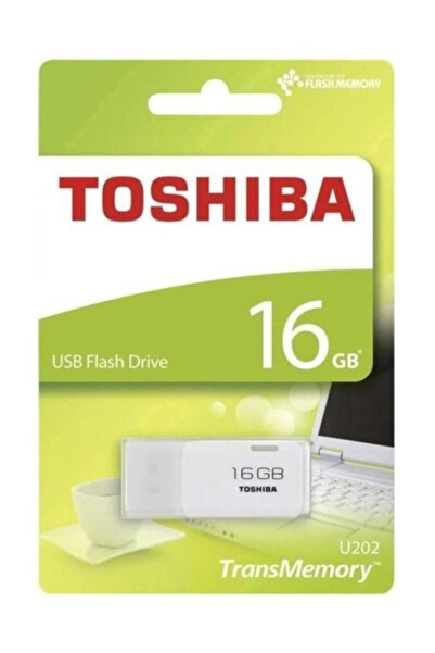 Toshiba 16 Gb Usb 2.0 Hayabusa Beyaz Thn-u202w0160e4