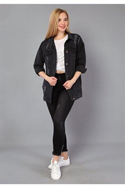eGs Kadın Füme Kot Ceket