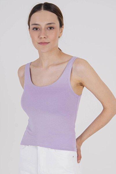 Addax Kadın Lila Kısa Basic Atlet B0167 - K5 ADX-00007726