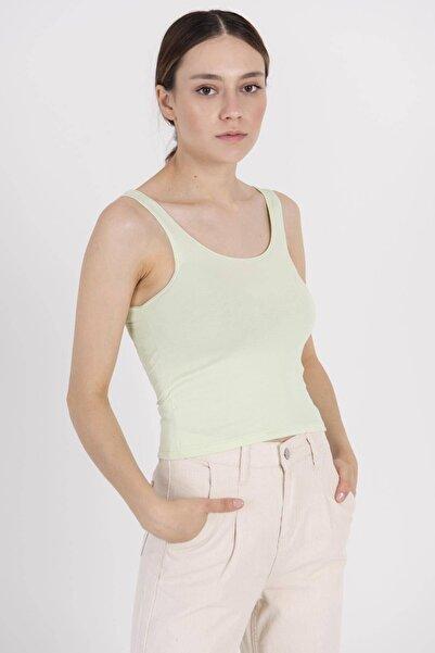 Addax Kadın Su Yeşili Kısa Basic Atlet B0167 - K5 ADX-00007726