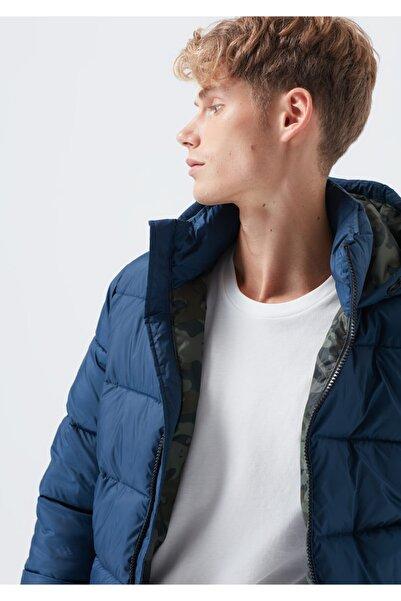 Mavi Kapüşonlu Lacivert Ceket