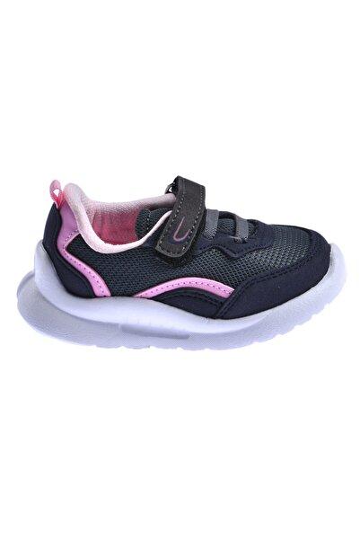 Ayakland Unisex Çocuk Siyah Günlük Fileli Cırtlı Spor Ayakkabı