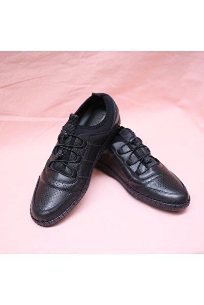 Master Erkek Siyah Soydan Ayakkabı Hakiki Deri Casual Ayakkabı