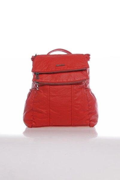 Barcelona Brc1608-0019 Kırmızı Kadın Sırt Çantası