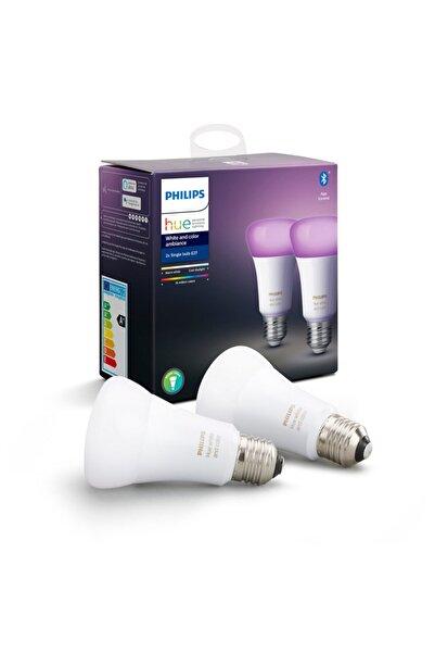 Philips Hue Bluetooth 2li Ekopaket E27 Renkli Akıllı Ampul - 929002216803