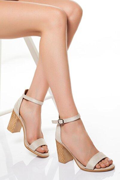 derithy -klasik Topuklu Ayakkabı-bej Süet