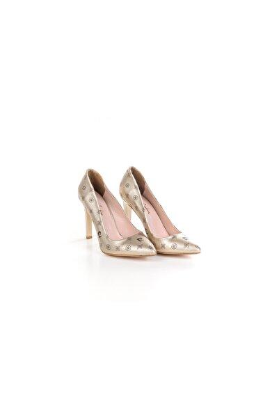 Pierre Cardin 45330 Baskılı Yüksek Topuk Ayakkabı