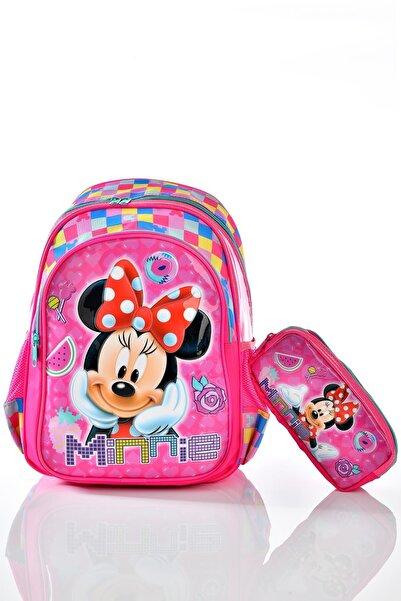 Minnie Mouse 73165 Okul Sırt Çantası Kalemlikli Set