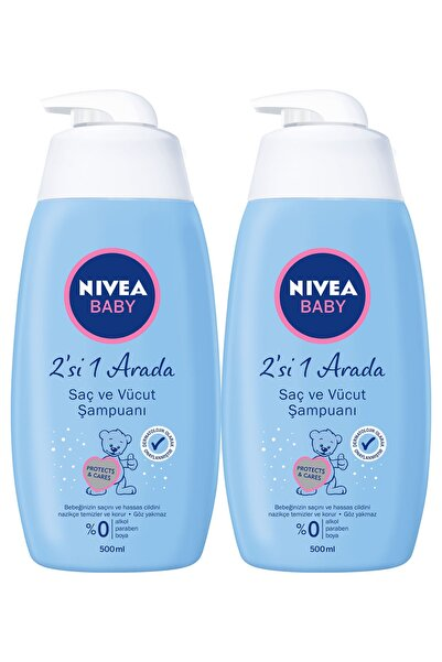 Nivea Baby Şampuan Saç ve Vücut 500 ml x2