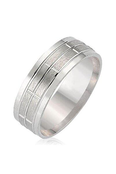 Takı Dükkanı Sade Çizgili Gümüş Alyans Söz Nişan Yüzüğü twr01