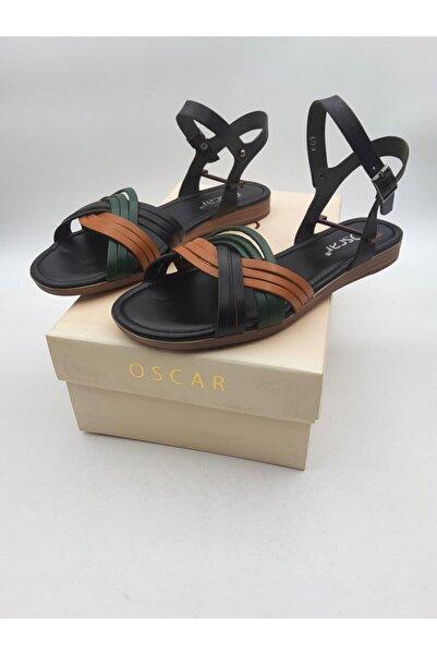 Oscar Kadın Siyah Kombi Içi Dışı Hakiki Deri Sandalet 609