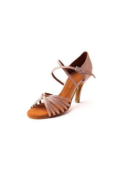 DANS AYAKKABISI Kadın Kum Parlak Ambrossia Mole  Topuklu Ayakkabı