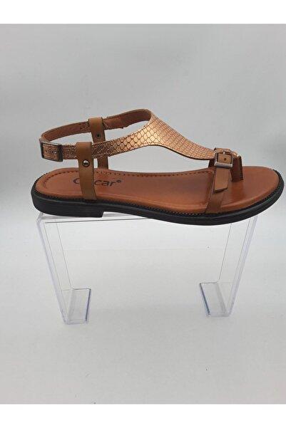 Oscar Kadın Bronz Içi Dışı Hakiki Deri Sandalet