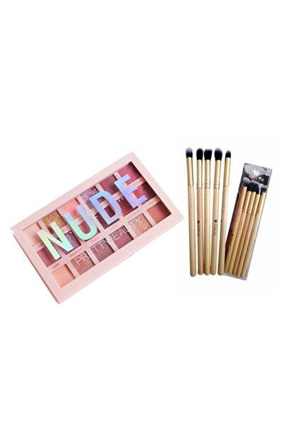 Pretty Beauty New Nude 18'li Göz Farı + 5'li Far Fırça Seti 8357729341125
