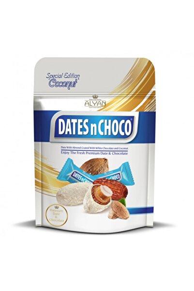 DATESnCHOCO Dates N Choco Hindistan Cevizi Ve Beyaz Çikolata Kaplı Bademli Hurma 90 gr