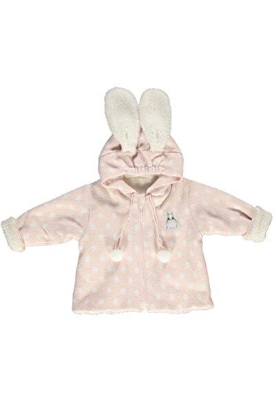Bebetto Kız Bebek Pembe Jakarlı Örme Astarlı Mont Baby Bunny K2758