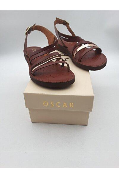 Oscar 82 Kadın Bordo Içi Dışı Hakiki Deri Sandalet