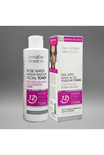 DermaDerm Gül Suyu Özlü Makyaj Temizleme ve Arındırıcı Tonik 200 ml
