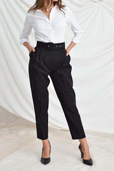 Sista Kadın Siyah Havuç Pantolon Kemerli
