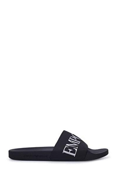 Erkek Siyah Yazılı Terlik X4ps04 Xm291 M596