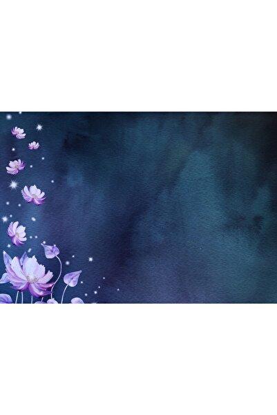 ELF Design Pembe Beyaz Çiçekler Amerikan Servis 4 Lü Set