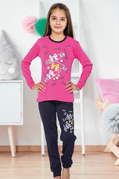 Tarık Uzun Kollu Kız Genç Pijama 1440 Fujya