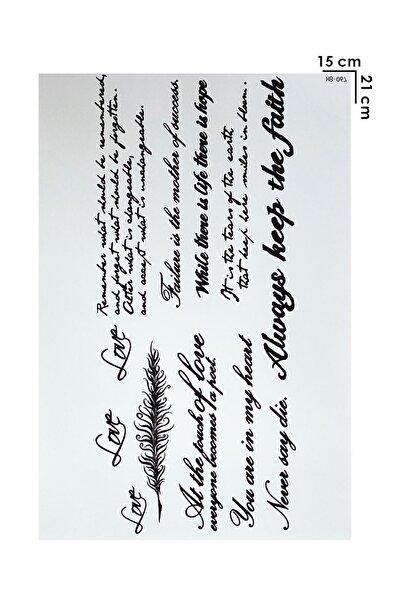 TAKIŞTIR Geçici Yazı Dövme Tattoo