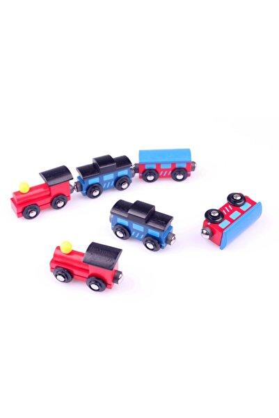 Learning Toys Ahşap Magnet Tren Vagonu Seti 6'lı