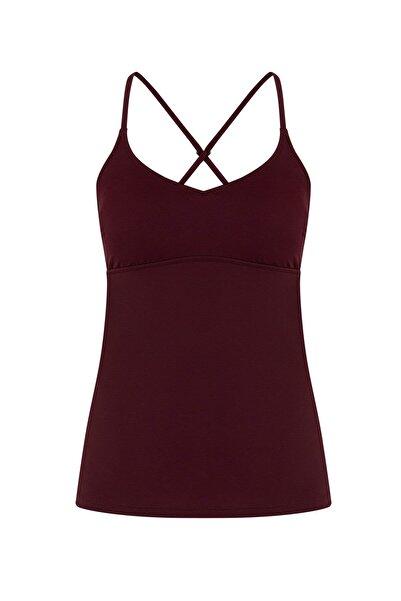 Penti Kadın Bordo Basic Tankini Bikini Üstü