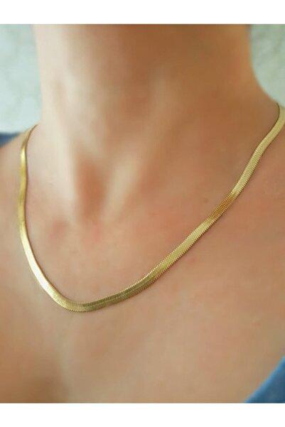 PETEK AKSESUAR Kadın Altın Çelik Italyan Zincir Kolye